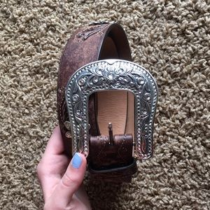 Justin Boots Accessories - Justin Boots leather belt